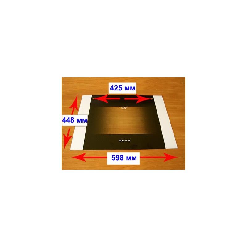 Стекло духовки наружное панорамное для газовой плиты Гефест ПГ 6100-01, -02, -03, -04 6100.18.0.001-01