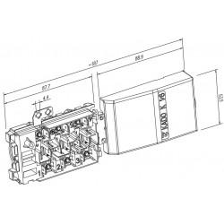 Клеммная колодка для плиты Гефест(Gefest) KADO К1/6 R5FZ2 3VL 4+5 S