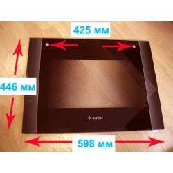 Стекло духовки наружное панорамное для газовой плиты Gefest(Гефест) ПГ 6300, 6500-02,-03,-04 0045 (598х446) (6500.18.1.000-03)
