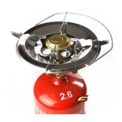 Польская газовая горелка на баллон одноконфорочная туристическая (220 мм.)