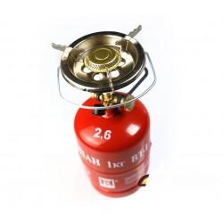 Польская газовая горелка на баллон одноконфорочная туристическая (164 мм.)