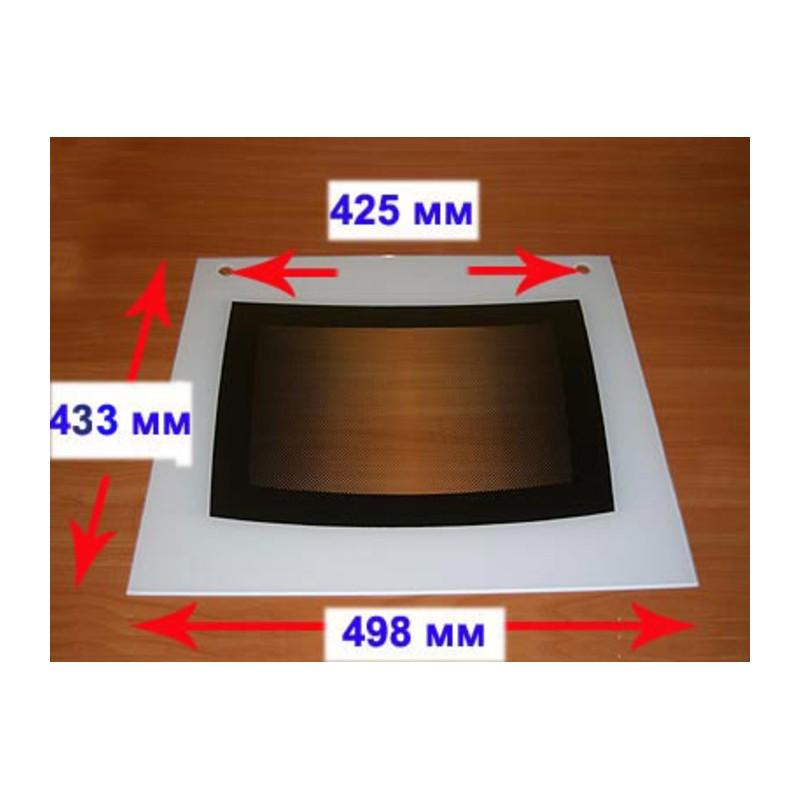 Стекло духовки наружное панорамное для газовой плиты Гефест ПГ 3100-01,02,03,04 (498х433) 3100.11.0.004-07