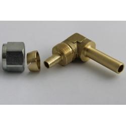 Соединетель FARO угловой для термопластиковой трубки D8мм