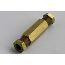 Cоединитель магистральной медной трубки 8мм D8/D8